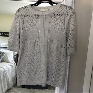 Kersh top lightweight short sleeve sweater medium